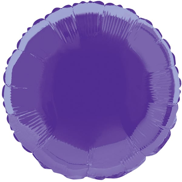 Purple Round Foil Helium Balloon 46cm / 18 Inches