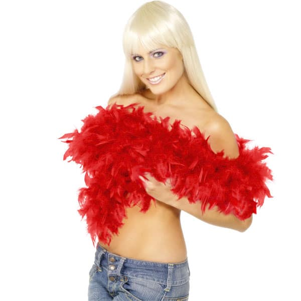 Deluxe Red Feather Boa