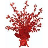 Red Foil Star Balloon Weight Centrepiece