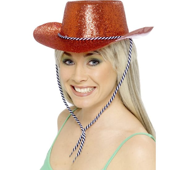 Red Glitter Cowboy Hat Product Image