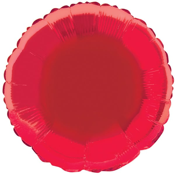 Red Round Foil Helium Balloon 46cm / 18Inch Product Image