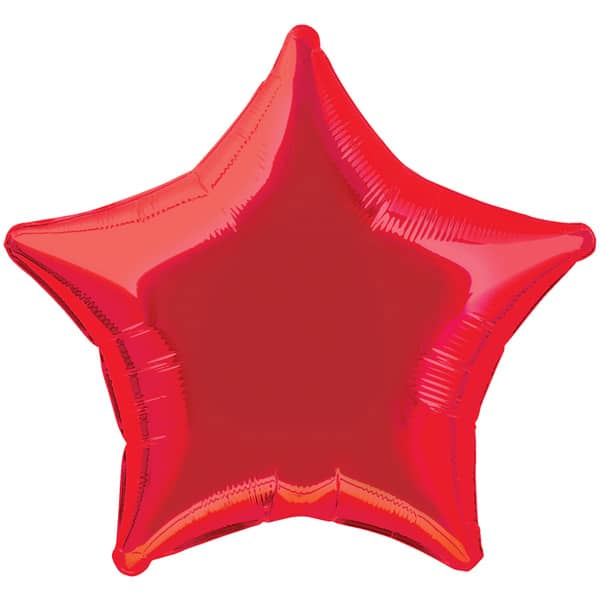 Red Star Foil Helium Balloon 51cm /20Inch