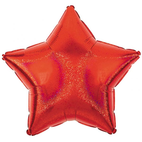 Red Star Diamond Dazzler Foil Helium Balloon 48cm / 19Inch Product Image