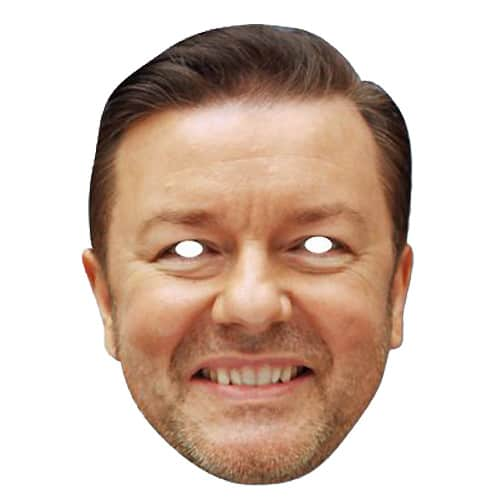 Ricky Gervais Cardboard Face Mask Product Image