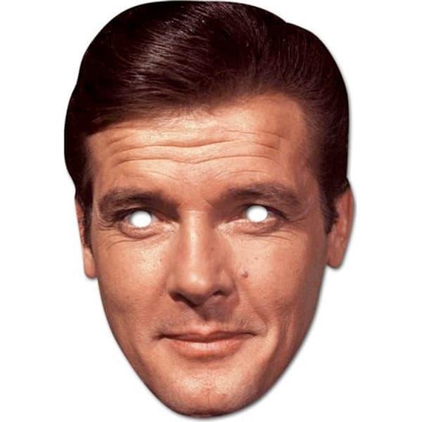 Roger Moore Cardboard Face Mask