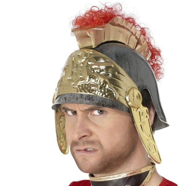 Roman PVC Helmet with Gold Trim