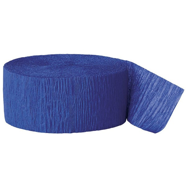 Royal Blue Crepe Streamer - 81 Ft / 24.6m Product Image