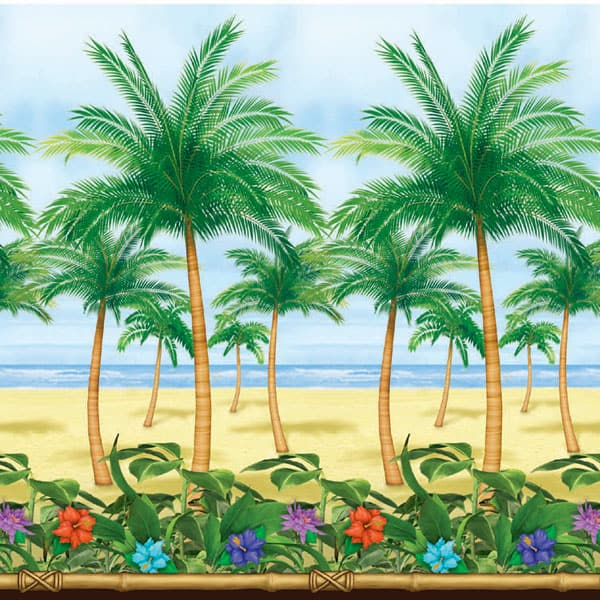 Tropical Paradise Backdrop Scene Setter Room Roll