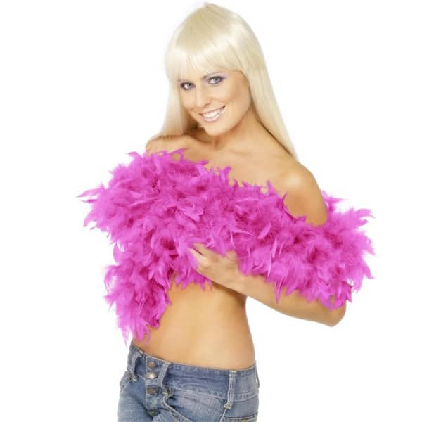 Deluxe Shocking Pink Feather Boa