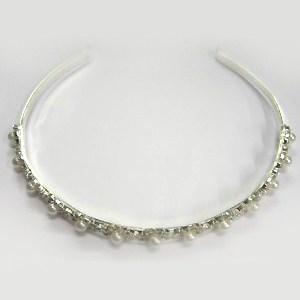 Silver Diamante and Pearl Headband