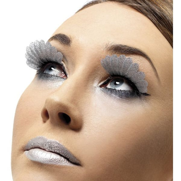 Silver Feather False Eyelashes
