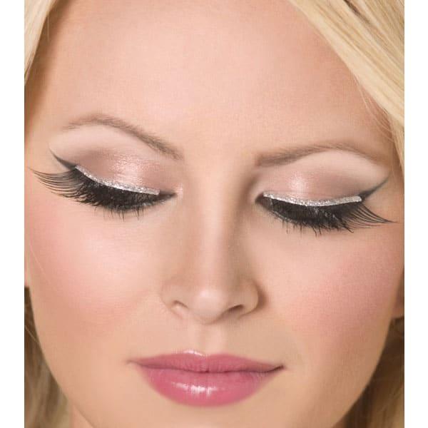Silver Glitter False Eyelashes