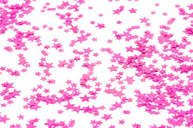 Small Cerise Stars Table Confetti - 14 Grams Product Image