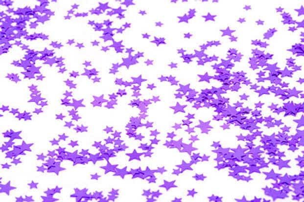 Small Purple Stars Table Confetti - 14 Grams