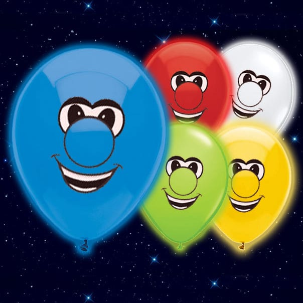 Smiling Face Print Illoom Balloons - 9 Inches / 23cm - Pack of 5