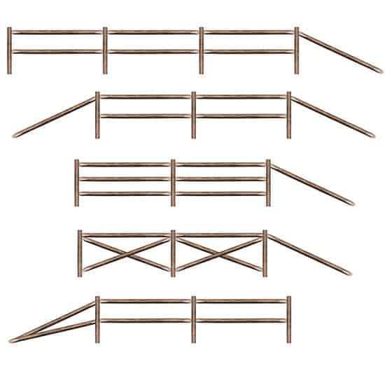 Split Rail Fence Backdrop Scene Setter Add-Ons - Pack of 11