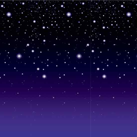 Starry Night Room Roll Backdrop Scene Setters 9.1m long