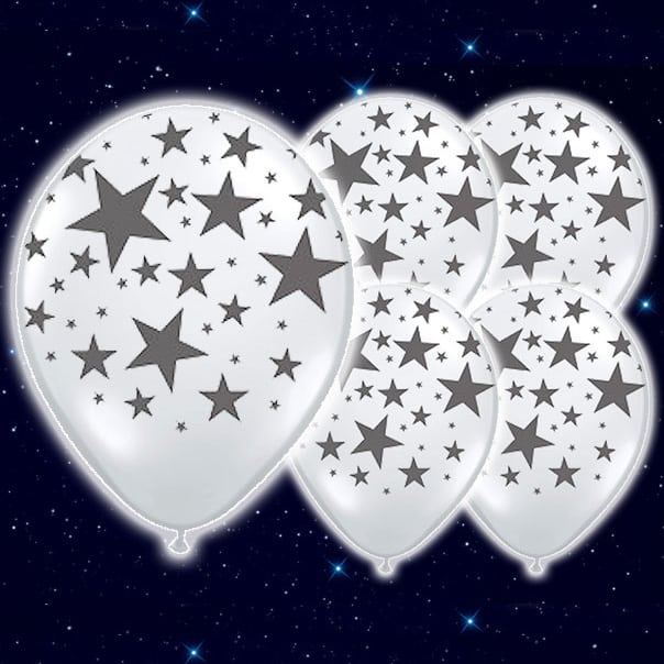 Stars-White-9-Inch-Illoom-Balloons-Pack-of-5-product
