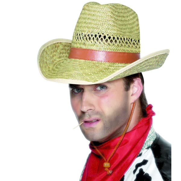 Straw Cowboy Hat Product Image