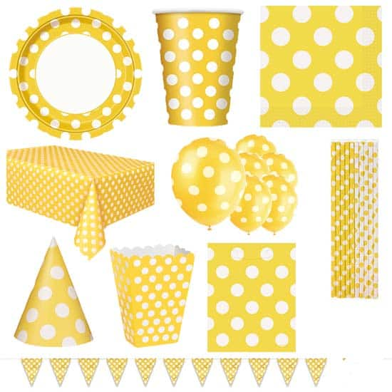 Sunflower-Yellow-Decorative-Dots-8-Person-Deluxe-Party-Pack.jpg