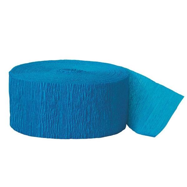 Turquoise Crepe Streamer - 81 Ft / 24.6m