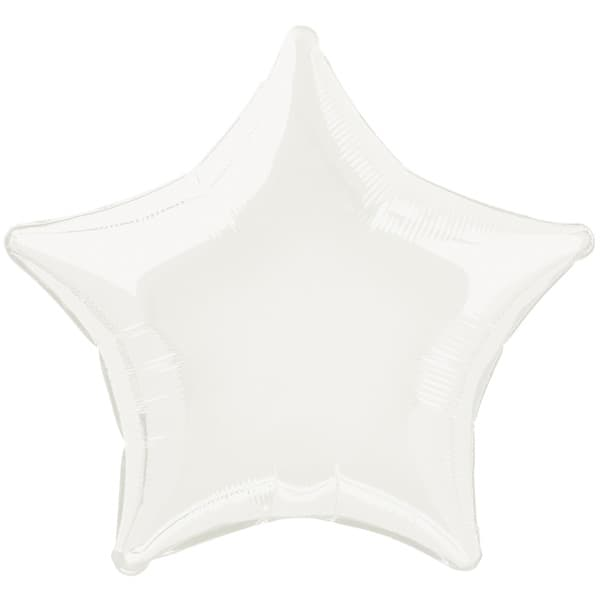 White Star Foil Helium Balloon 51cm / 20Inch Product Image