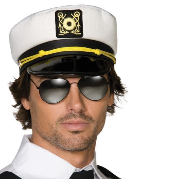 Black & White Captains Cap