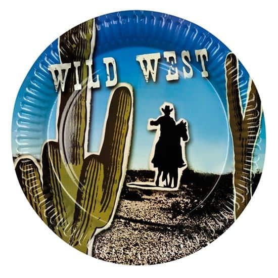 Wild Western Theme 23cm Paper Plate