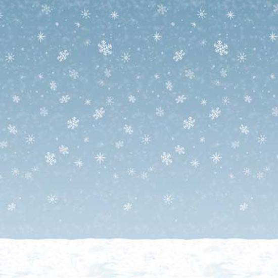Winter Sky Backdrop Scene Setter Room Roll