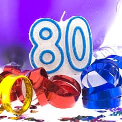 80th Birthday Party Supplies Category Image