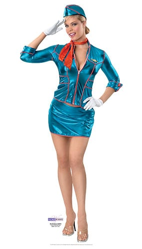 Air Hostess Lifesize Cardboard Cutout - 171cm Product Gallery Image