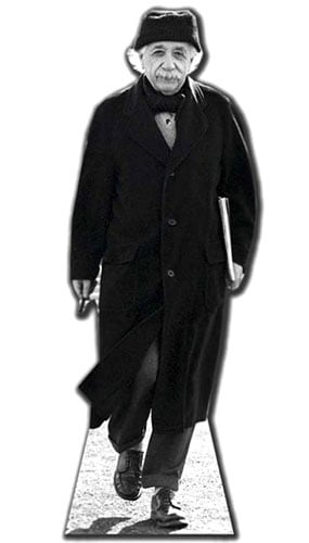 Albert Einstein Lifesize Cardboard Cutout - 176cm Product Gallery Image