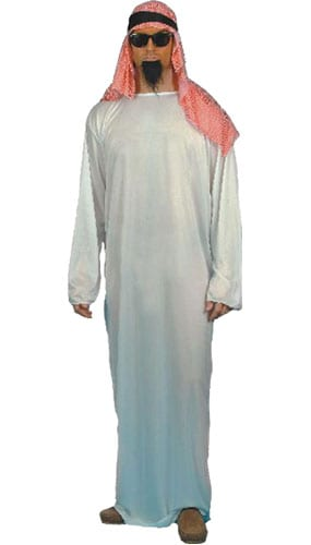 Arab Costume Medium Mens Fancy Dress