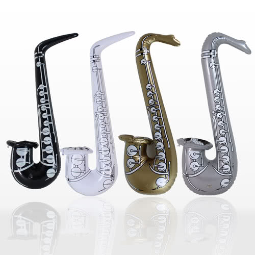 Assorted Inflatable Saxophone - 23.5 Inches / 60cm