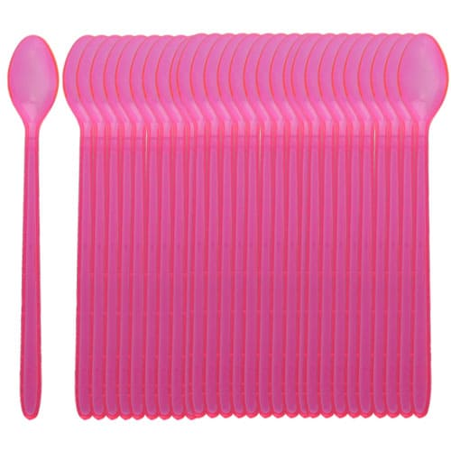 Neon Pink Glow Spoons - Pack of 100 Product Image