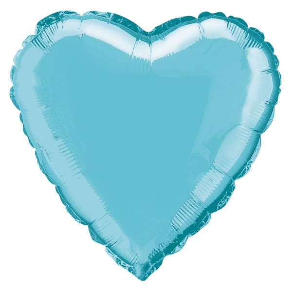 Baby Blue Heart Foil Helium Balloon 46cm / 18Inch