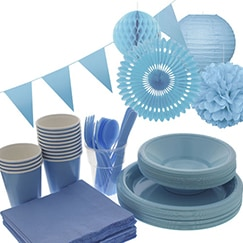 Baby Blue plain tableware
