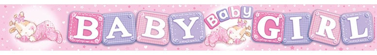Baby Girl Plastic Banner – 8.5 Ft / 260cm