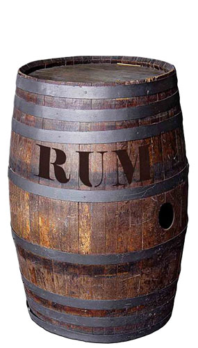Barrel Of Rum Lifesize Cardboard Cutout - 97cm