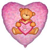Be Mine Heart Shape Foil Helium Balloon 46cm / 18Inch
