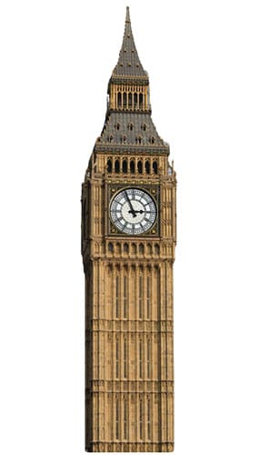 Big Ben Lifesize Cardboard Cutout - 189cm Product Gallery Image