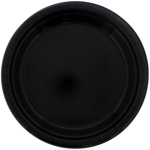 Black Plastic Plate - 9 Inches / 23cm