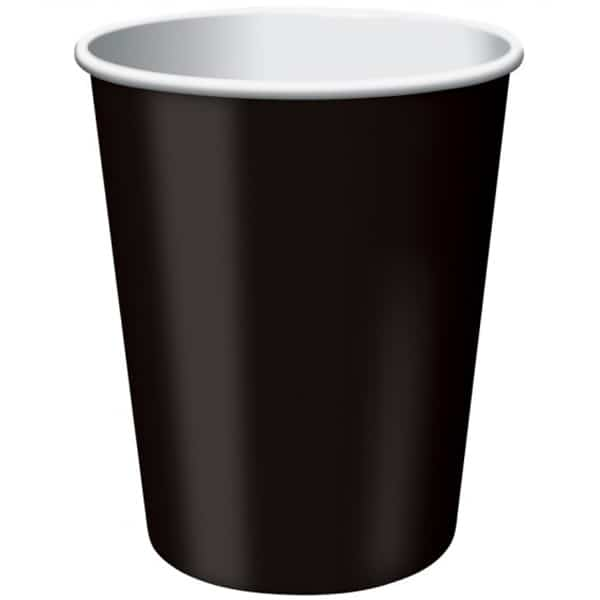 Black Paper Cups 270ml - Pack of 14