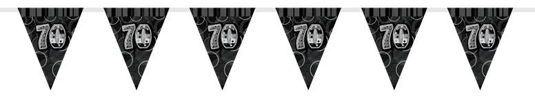 black-glitz-70th-birthday-bunting-12-ft-366cm-product-image