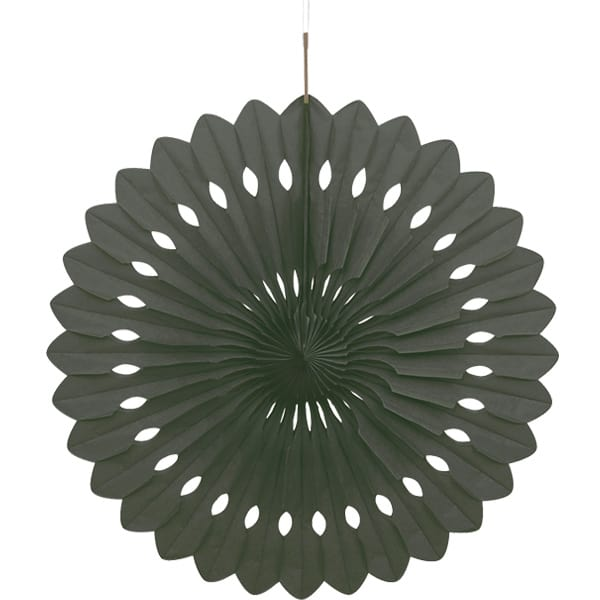 Black Hanging Decorative Honeycomb Fan 40cm