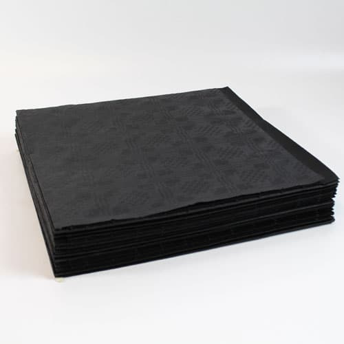 Black Paper Tablecovers - 90cm x 90cm - Pack of 25