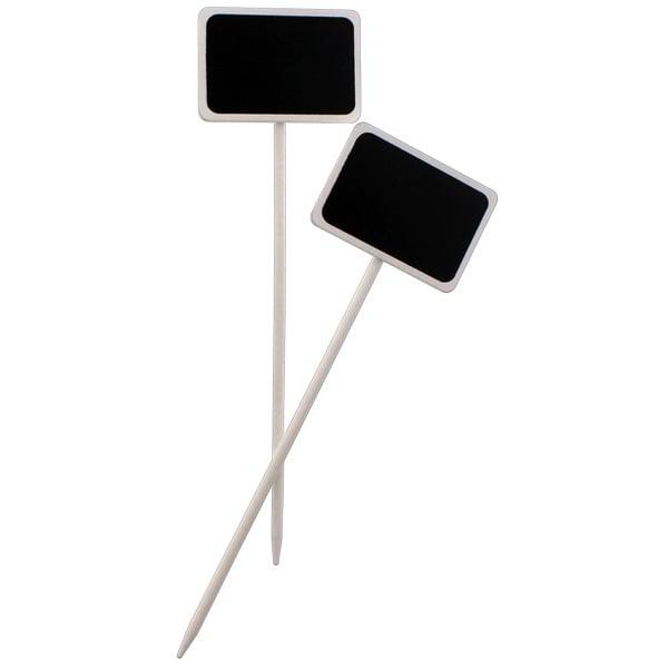 Blackboard Rectangular White Picks - Pack of 2