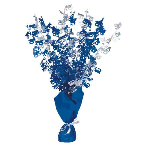 Blue Glitz 16th Birthday Balloon Weight Centrepiece