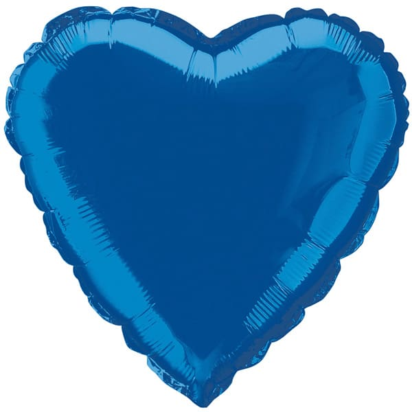 Blue Heart Foil Helium Balloon 46cm / 18Inch