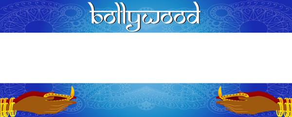 Bollywood Hands Design Large Personalised Banner - 10ft x 4ft